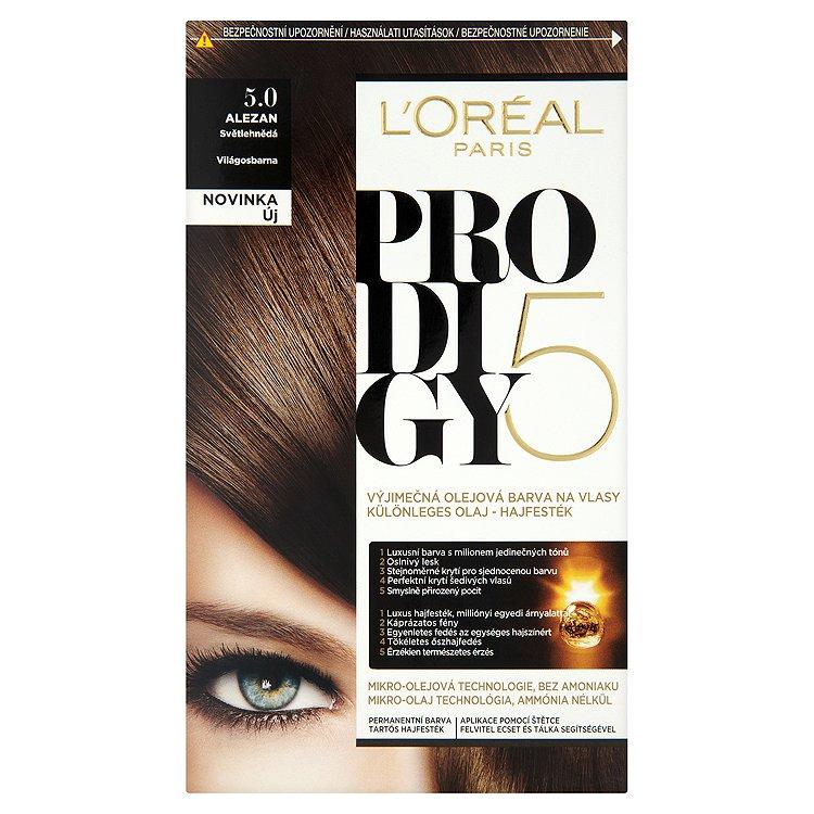 Fotografie L'Oréal Paris Prodigy Alezan světle hnědá 5.0