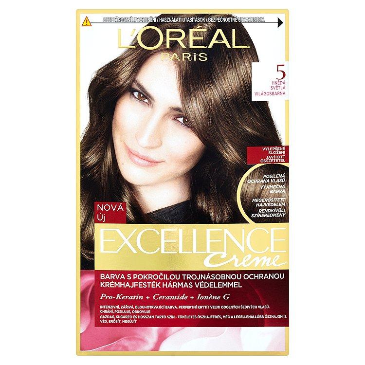 L'Oréal Paris Excellence Creme hnědá světlá 5