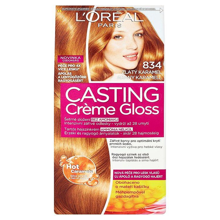 L'Oréal Paris Casting Crème Gloss Zlatý karamel 834
