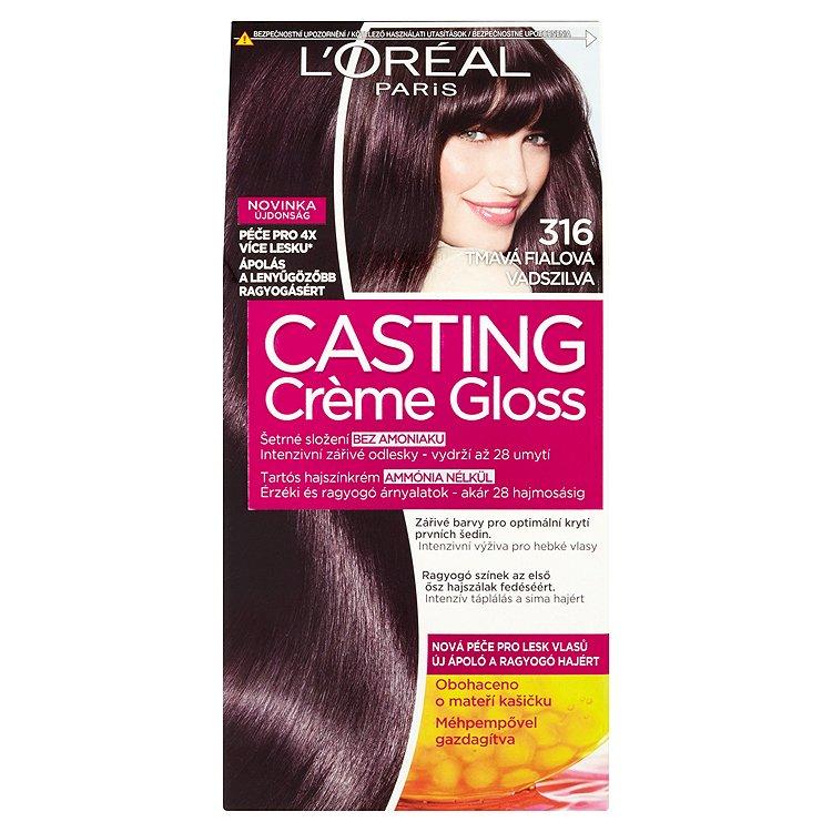 Fotografie Loreal Paris Barva na vlasy Casting Cr?me Gloss 316 tmavá fialová