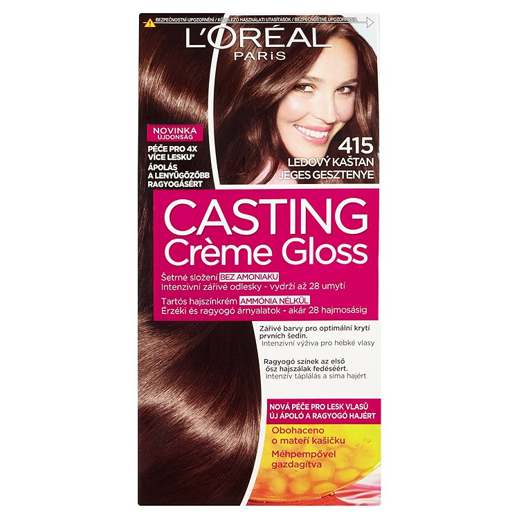 Fotografie Loreal Paris Barva na vlasy Casting Cr?me Gloss 415 ledový kaštan