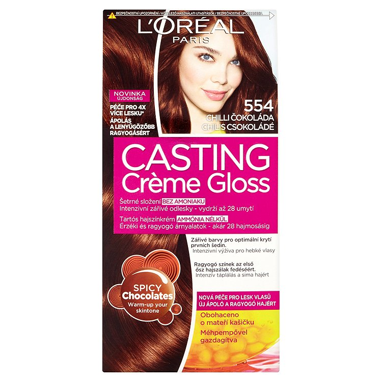 Fotografie L'Oréal Paris Casting Crème Gloss chilli čokoláda 554