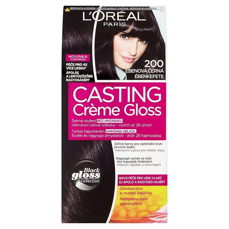 Fotografie L'Oréal Paris Casting Crème Gloss ebenová černá 200
