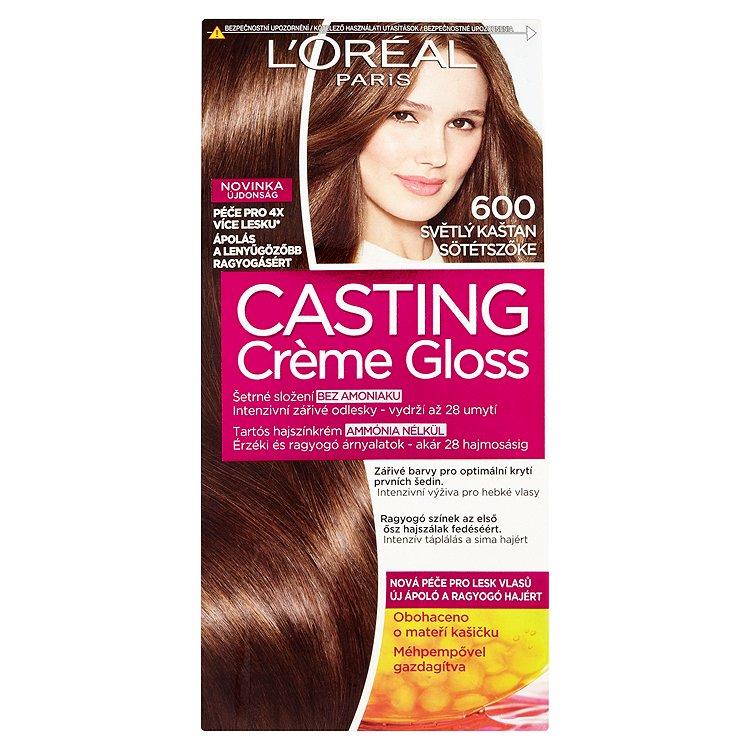 Fotografie L'Oréal Paris Casting Crème Gloss světlý kaštan 600