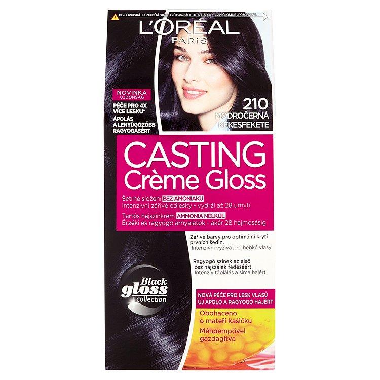 Fotografie Loreal Paris Casting Creme Gloss barva na vlasy 210 modročerná