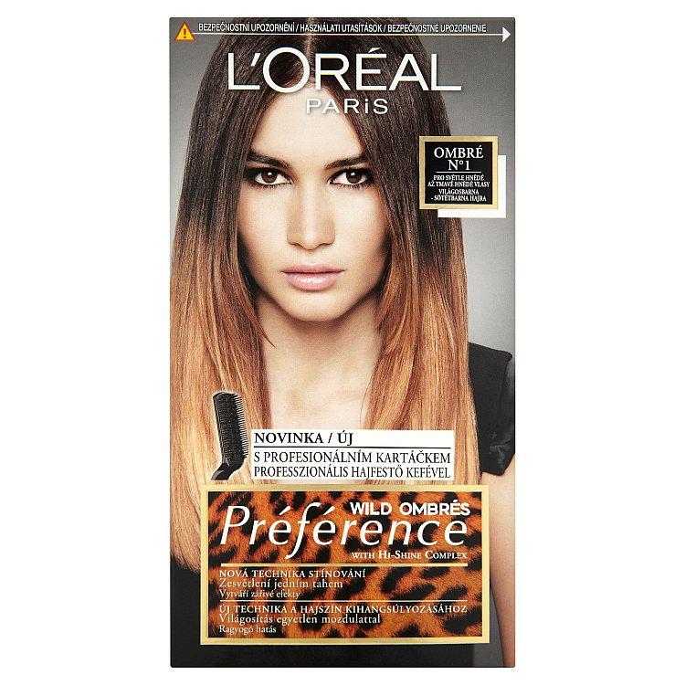 L'Oréal Paris Wild Ombrés Préférence Ombré Nº1 pro světle hnědé až tmavě hnědé vlasy
