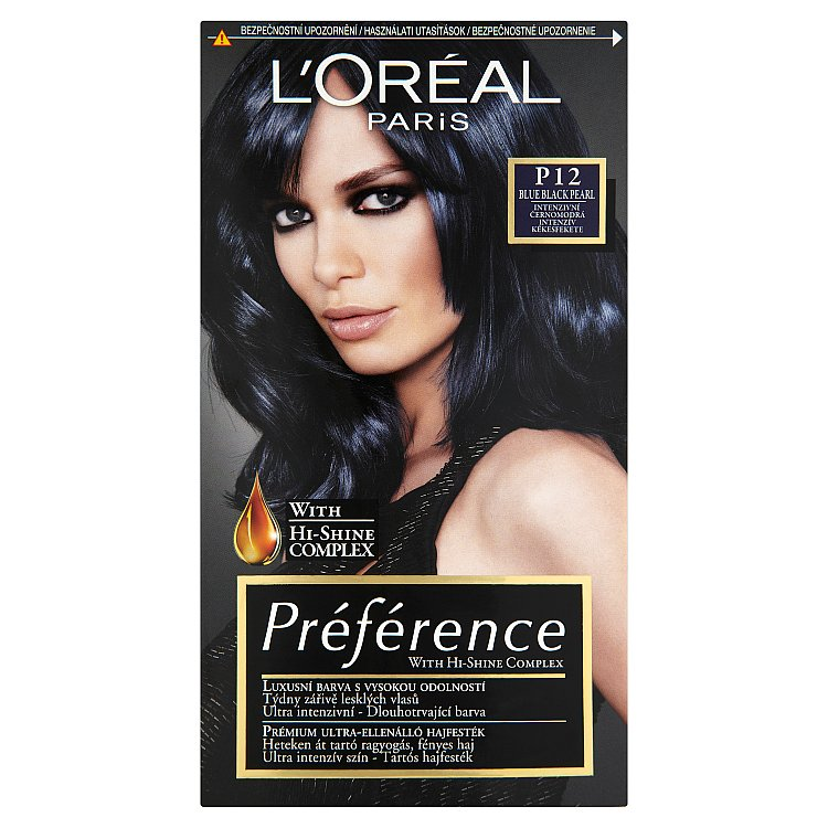 Fotografie L'Oréal Paris Préférence Blue Black Pearl intenzivní černomodrá P12
