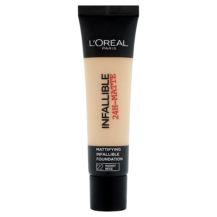 L'Oréal Paris Infallible 24h, zmatňující make-up Beige 22