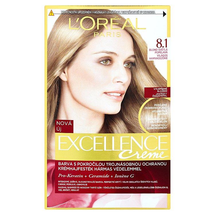 L'Oréal Paris Excellence Creme blond světlá popelavá 8.1