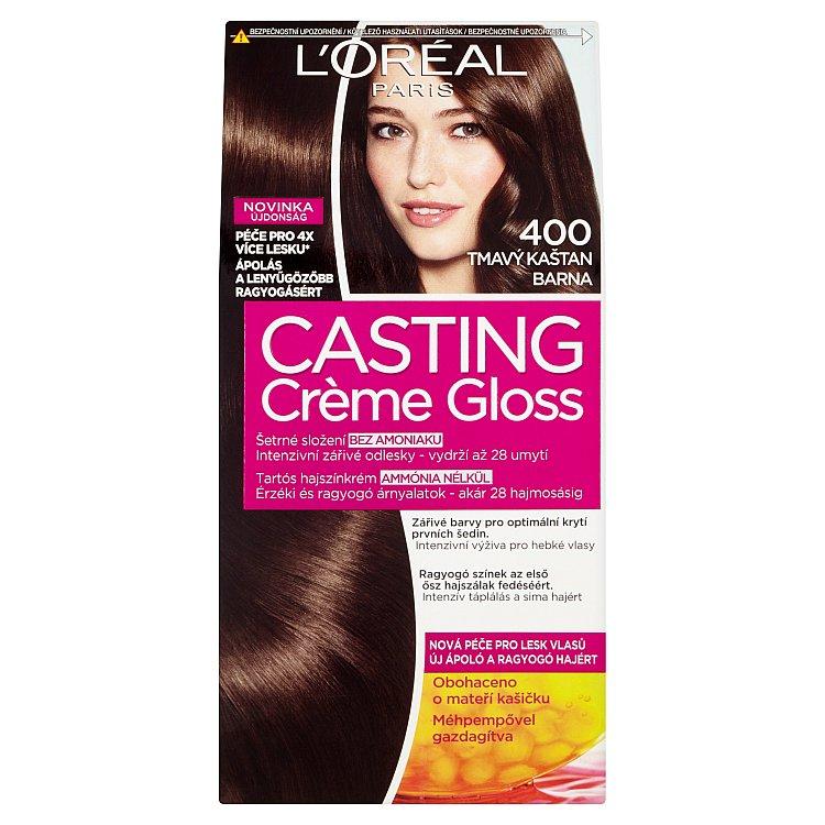Fotografie Loreal Paris Barva na vlasy Casting Cr?me Gloss 400 tmavý kaštan