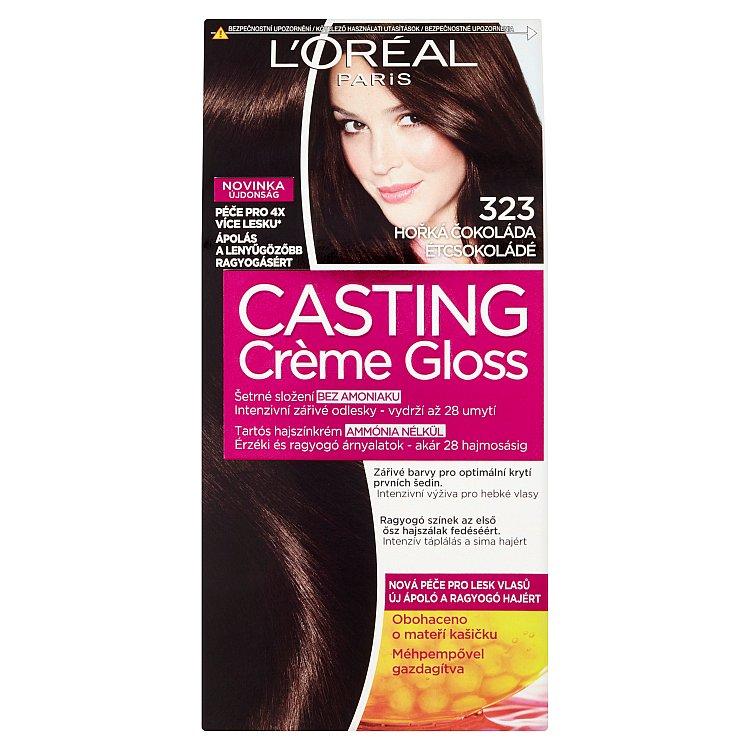 Fotografie Loreal Paris Barva na vlasy Casting Cr?me Gloss 323 hořká čokoládová