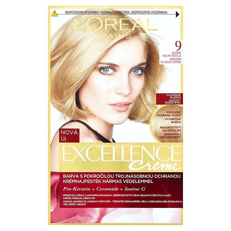 L'Oréal Paris EXCELLENCE CRÈME barva na vlasy blond velmi světlá 9