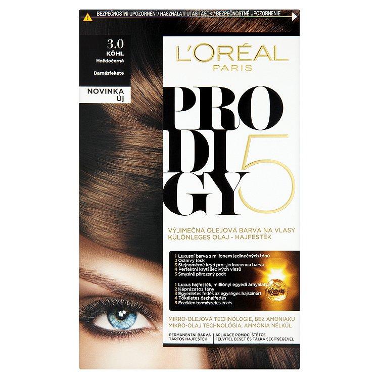 L'Oréal Paris Prodigy Kôhl hnědočerná 3.0