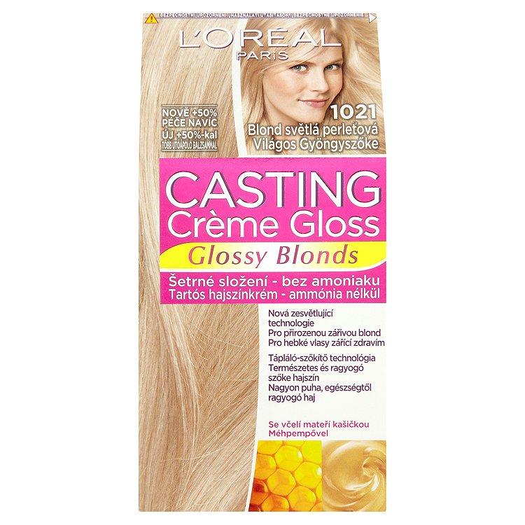 L'Oréal Paris Casting Crème Gloss Glossy Blonds blond světlá perleťová 1021