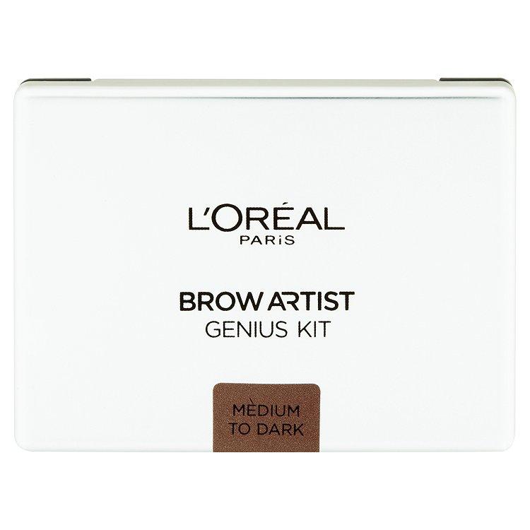 L'Oréal Paris Brow Artist Genius Kit Medium to Dark kazeta na úpravu obočí 3,5 g
