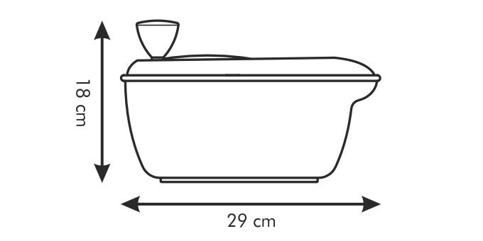 Fotografie Odstředivka na salát HANDY, zelená