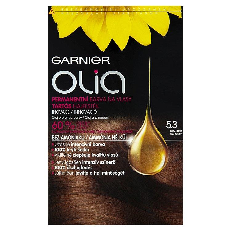 Garnier Olia Permanentní barva na vlasy zlatá hnědá 5.3