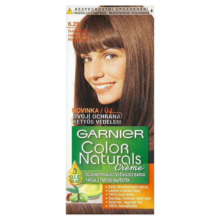 Garnier Color Naturals Crème dlouhotrvající vyživující barva světlá ledová mahagonová 6.25