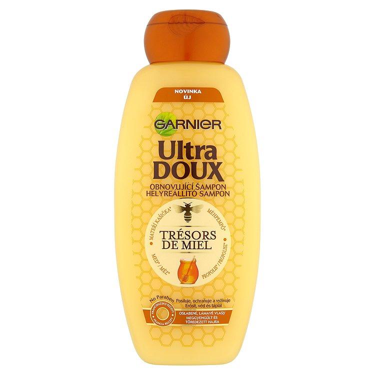 Fotografie Garnier Vyživující šampon pro oslabené a lámavé vlasy Trésors de Miel 400 ml