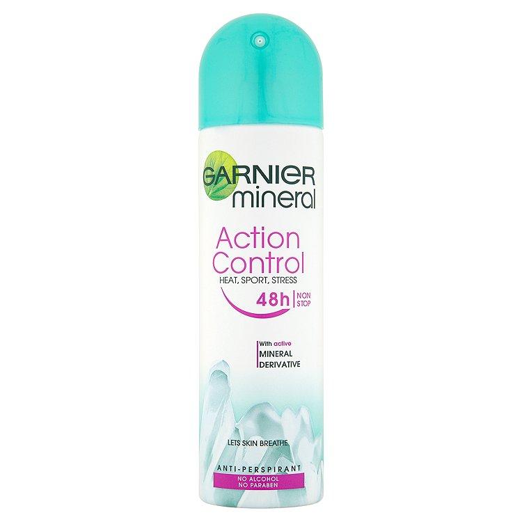 Fotografie Garnier Minerální deodorant Action Control ve spreji pro ženy 150 ml