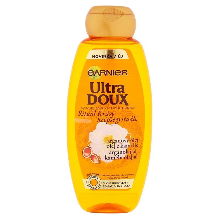 Garnier Ultra Doux Vyživující šampon s arganovým olejem a olejem z kamélie 400 ml