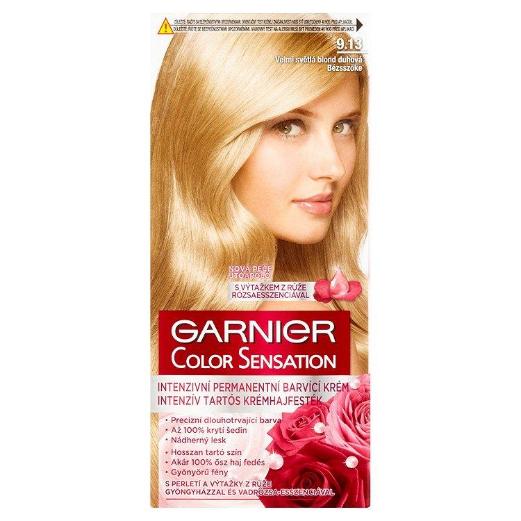 Garnier Color Sensation Intenzivní permanentní barvicí krém velmi světlá blond duhová 9.13