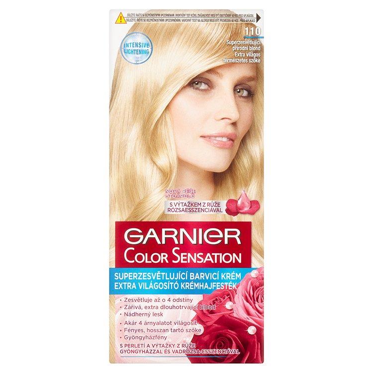 Garnier Color Sensation Superzesvětlující barvící krém přírodní blond 110
