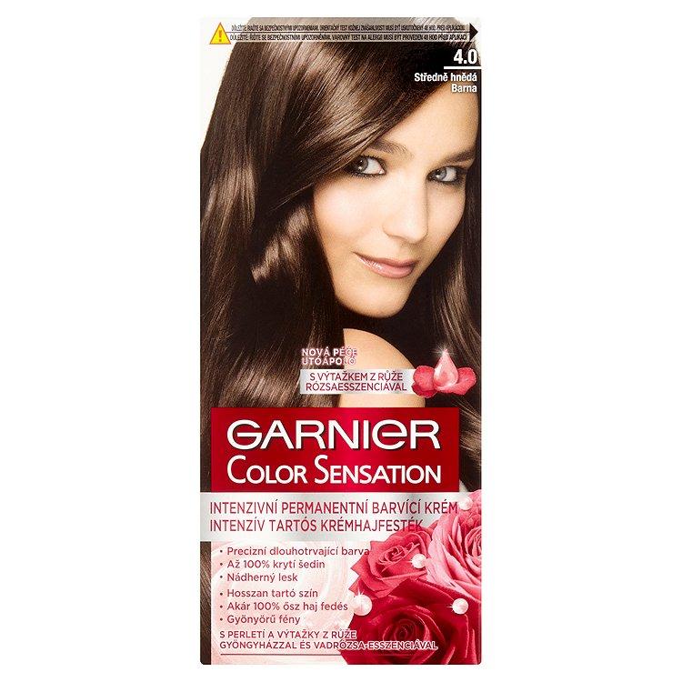 Garnier Color Sensation Intenzivní permanentní barvicí krém středně hnědá 4.0