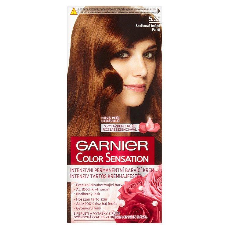 Garnier Color Sensation Intenzivní permanentní barvící krém skořicová hnědá 5.35