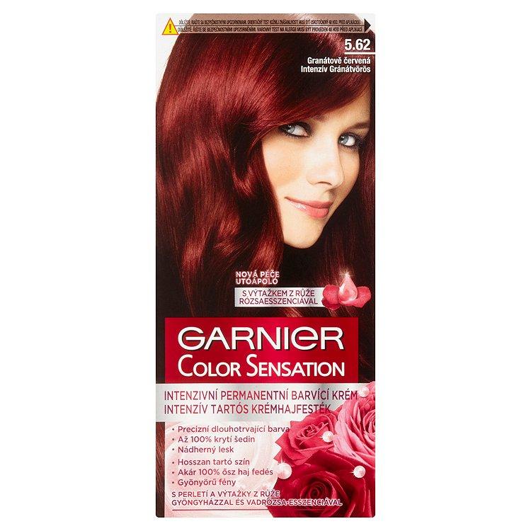 Garnier Color Sensation Intenzivní permanentní barvicí krém granátově červená 5.62