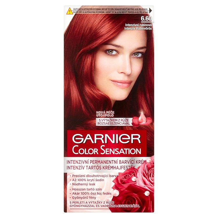 Garnier Color Sensation Intenzivní permanentní barvicí krém intenzivní rubínová 6.60
