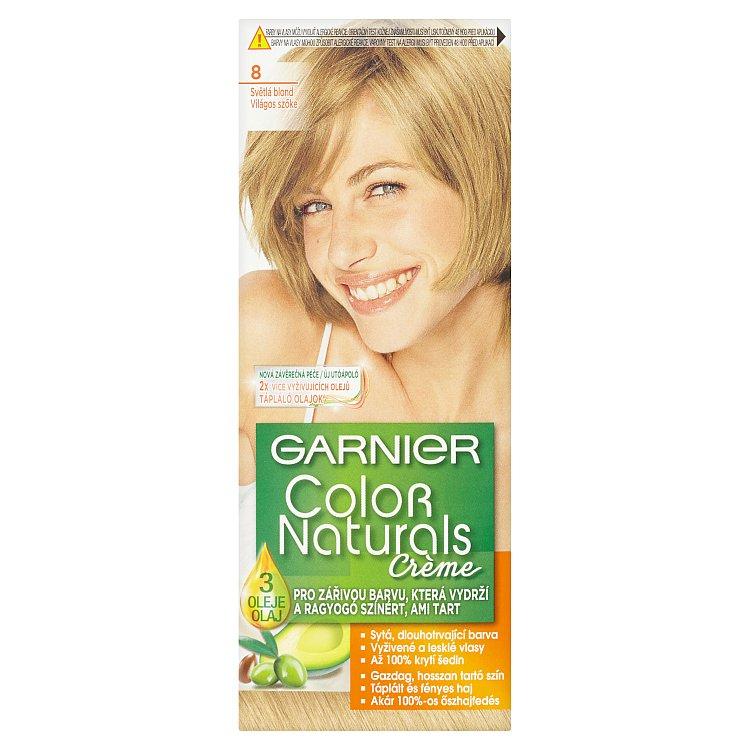 Fotografie Garnier Color Naturals Crème Světlá blond 8