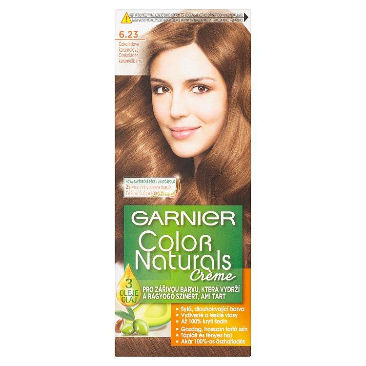 Fotografie Garnier Color Naturals Crème Čokoládově karamelová 6.23