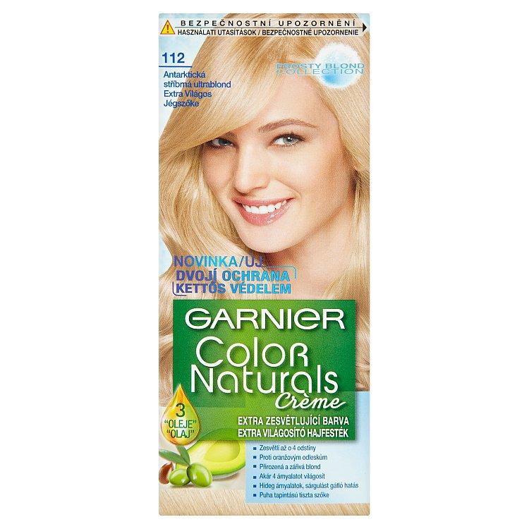 Fotografie Garnier Dlouhotrvající vyživující barva na vlasy (Color natural Creme) 112 Antarktická stříbrná Ultr