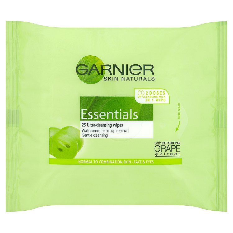 Garnier Skin Naturals Essentials odličovací ubrousky 25 ks/bal.