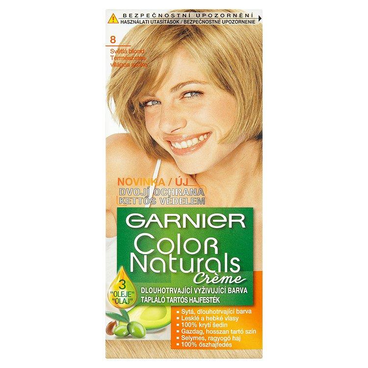 Garnier Color Naturals Crème dlouhotrvající vyživující barva světlá blond 8