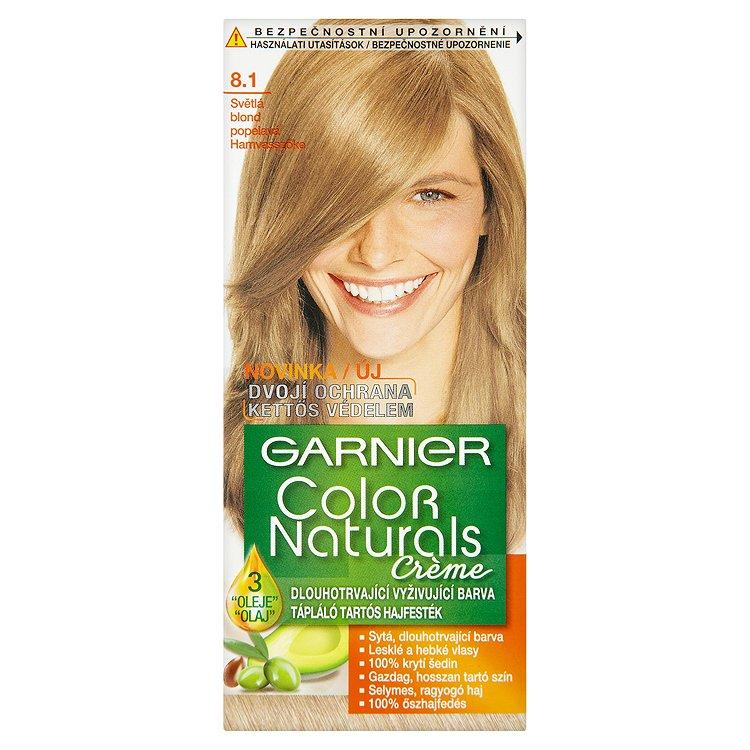 Garnier Color Naturals Crème dlouhotrvající vyživující barva světlá blond popelavá 8.1
