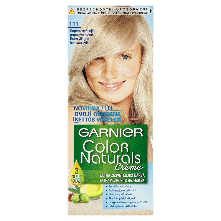 Garnier Color Naturals Crème extra zesvětlující barva superzesvětlující popelavá blond 111