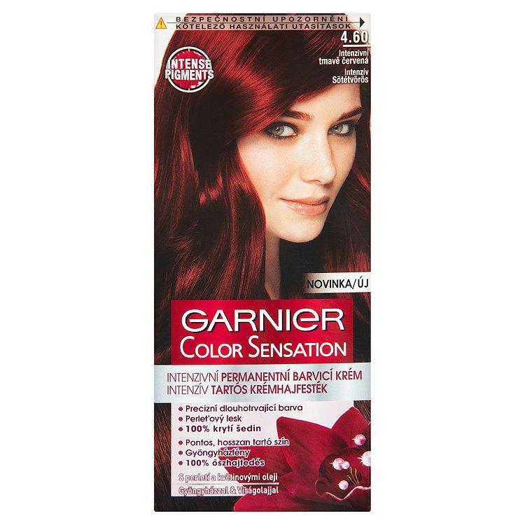 Garnier Color Sensation Intenzivní permanentní barvící krém intenzivní tmavě červená 4.60