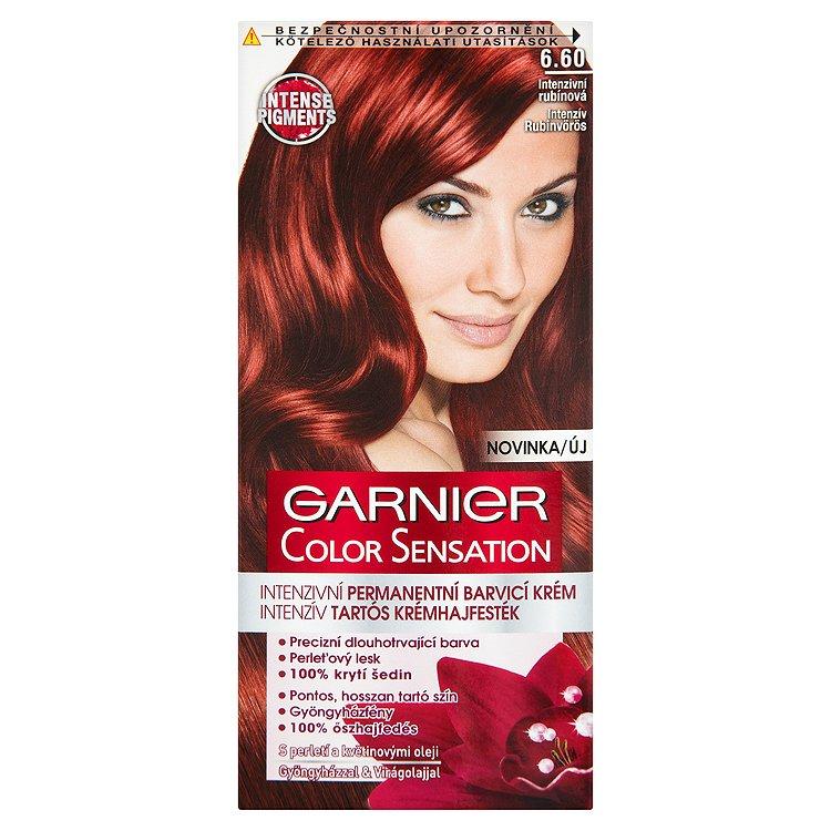 Garnier Color Sensation Intenzivní permanentní barvící krém intenzivní rubínová 6.60