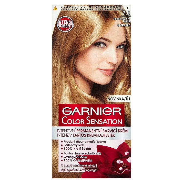 Garnier Color Sensation Intenzivní permanentní barvicí krém jemná opálová blond 7.0