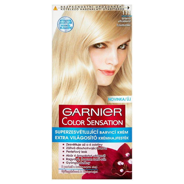 Garnier Color Sensation Superzesvětlující barvicí krém stříbrná ultrablond 111