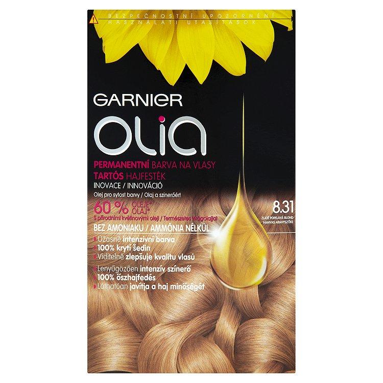Garnier Olia Permanentní barva na vlasy zlatě popelavá blond 8.31