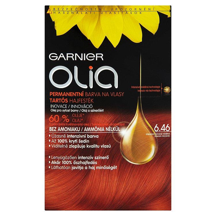 Garnier Olia Permanentní barva na vlasy intenzivní červená měděná 6.46