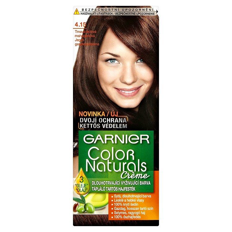 Garnier Color Naturals Crème dlouhotrvající vyživující barva tmavá ledová mahagonová 4.15