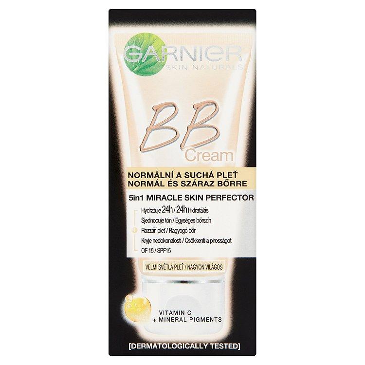 Garnier Skin Naturals BB Cream 5v1, hydratační tónovací péče extra světlý odstín