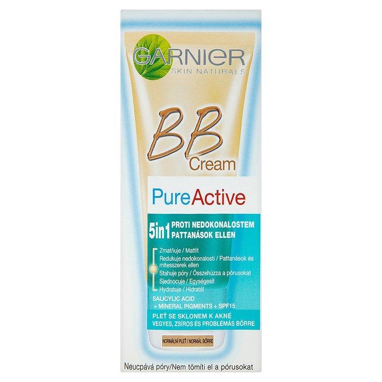 Garnier Skin Naturals Pure Active 5v1, BB krém Normální/medium