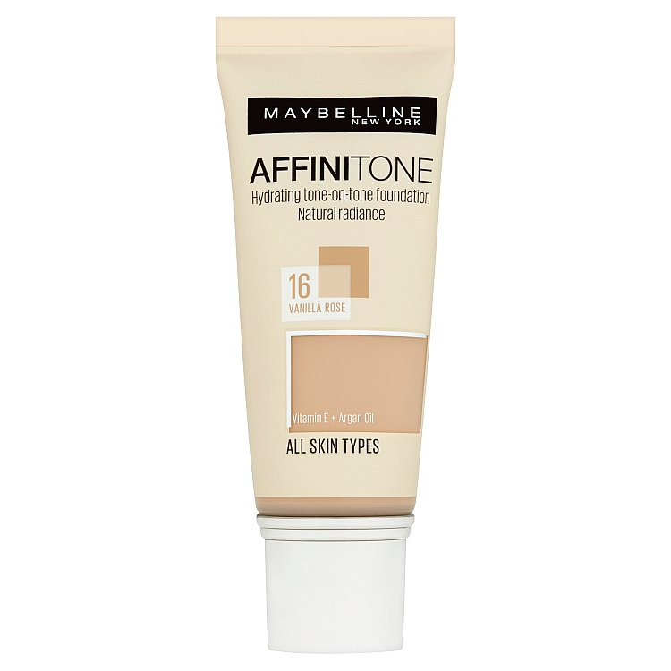 Maybelline Affinitone, hydratační make-up Vanilla Rose 16