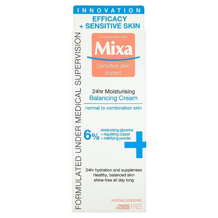 Mixa Sensitive Skin Expert 24 h, lehký vyvažující hydratační krém 50 ml