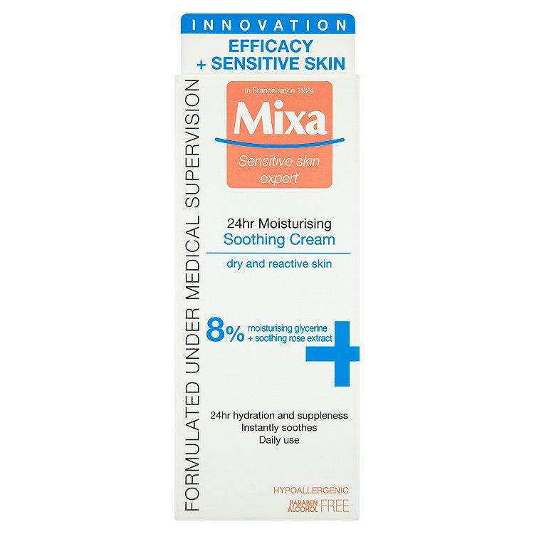 Mixa Sensitive Skin Expert 24 h, zklidňující hydratační krém 50 ml